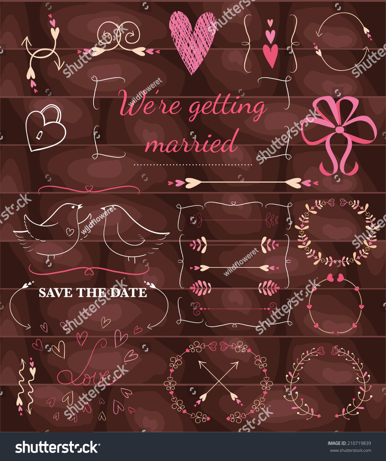 Were Getting Married Save Date Wedding Stock Vector 210719839 ...
