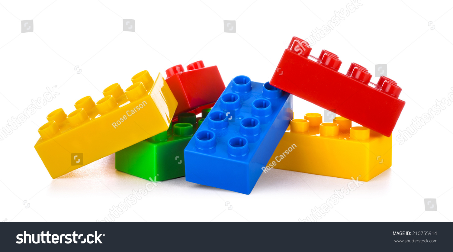 Plastic building blocks isolated on white stock photo for Plastic building blocks home construction