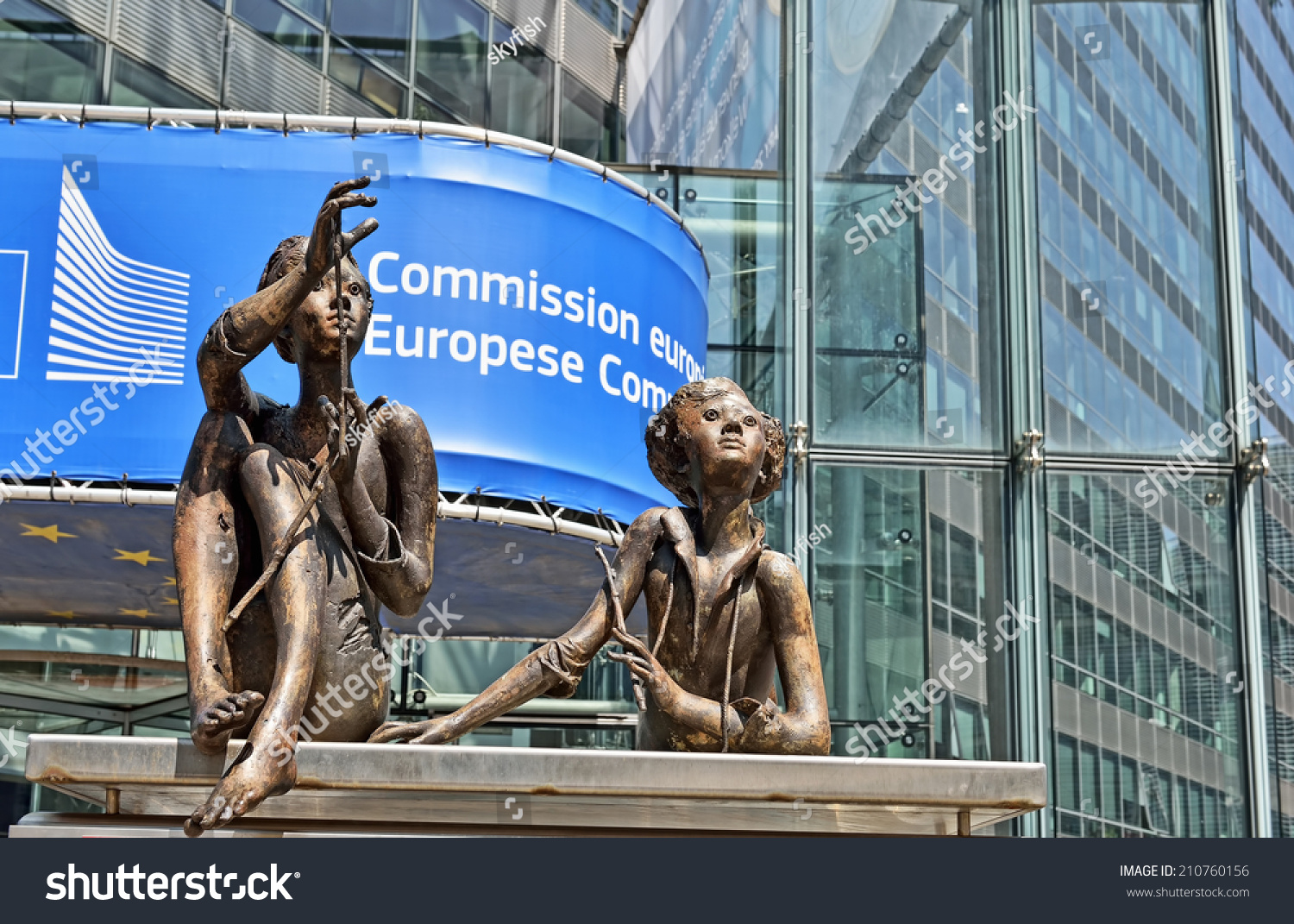 Brussels belgium august 05 2014 modern office of european commission in european quarter of - European commission office ...