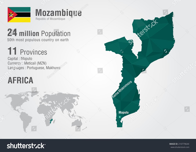 Mozambique world map pixel diamond texture stock vector 2018 mozambique world map with a pixel diamond texture world geography gumiabroncs Images