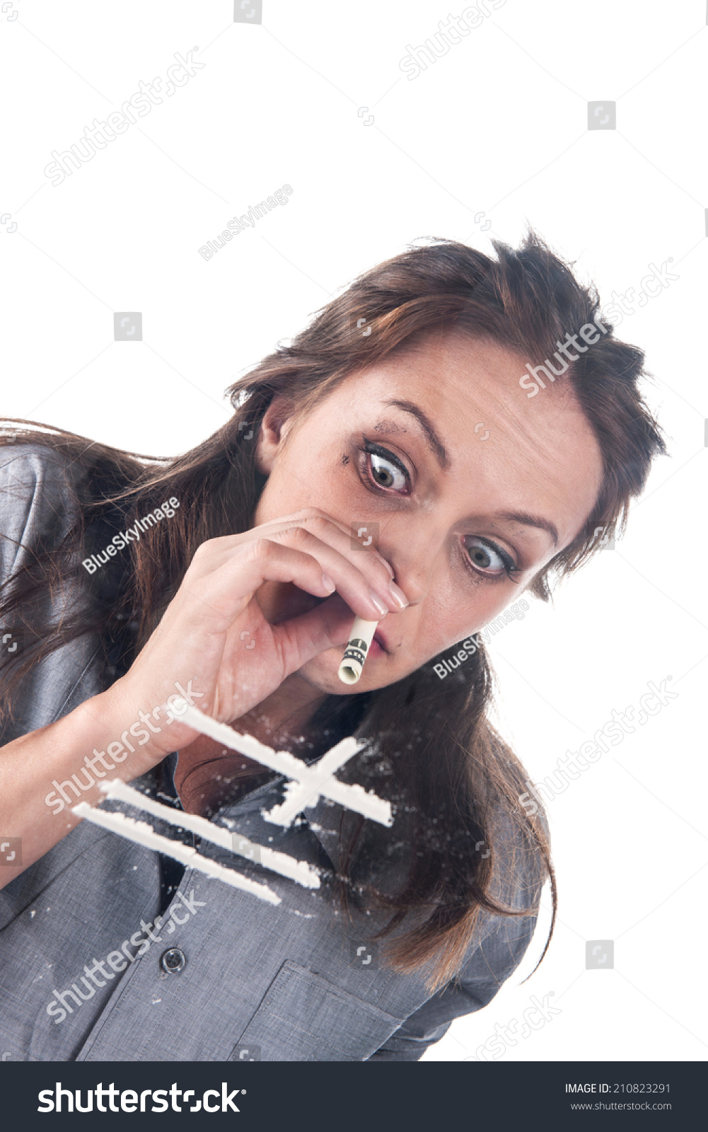 With girl snorting coke drug consider