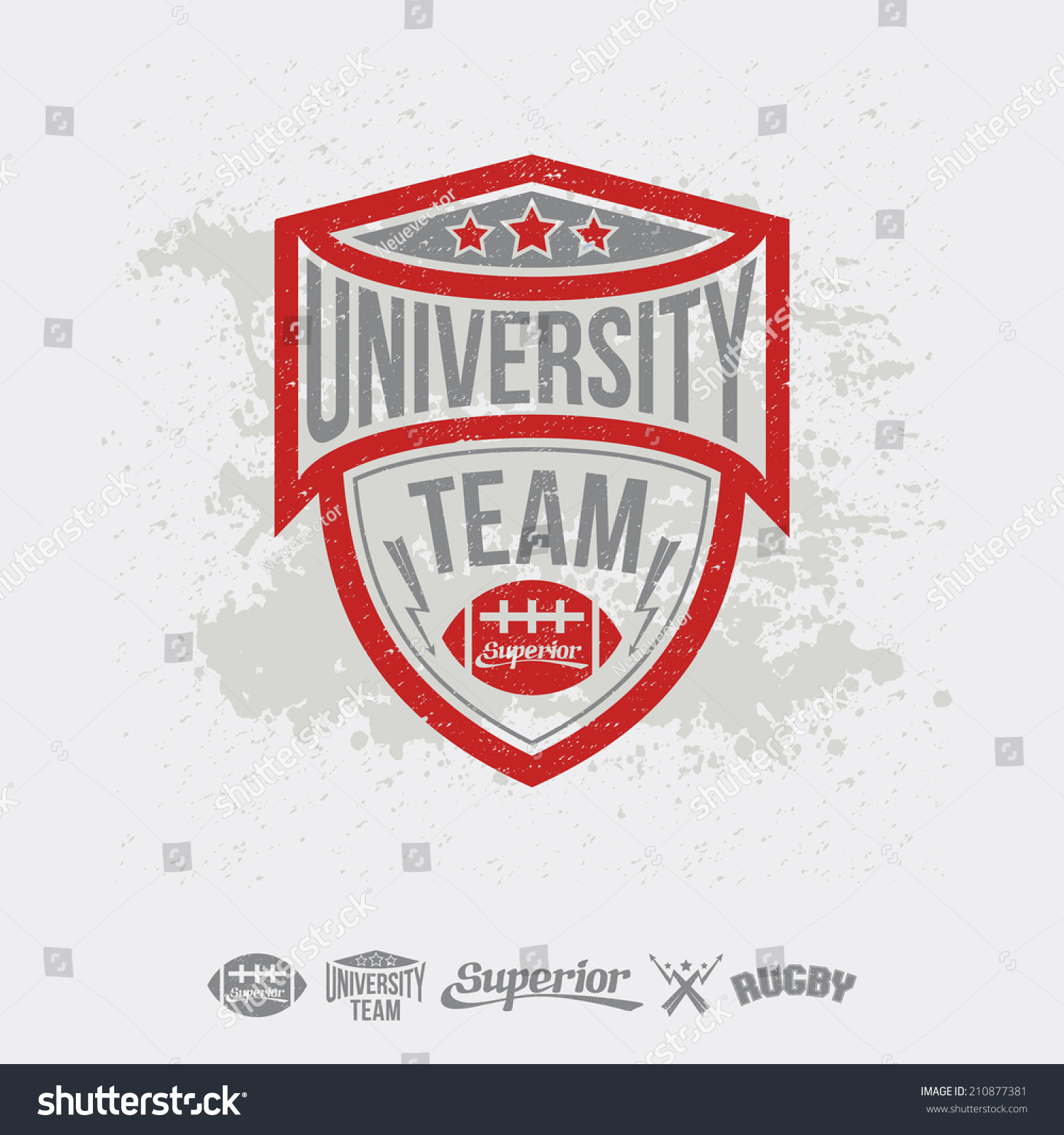 Design t shirt universiti - Design T Shirt University Rugby Emblem University Team And Design Elements Graphic Design For T