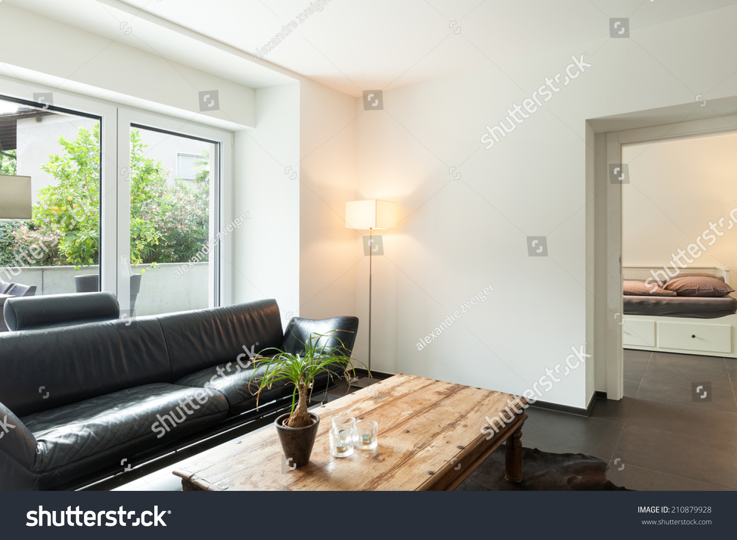 Interior modern house nice living room stock photo Nice house interior