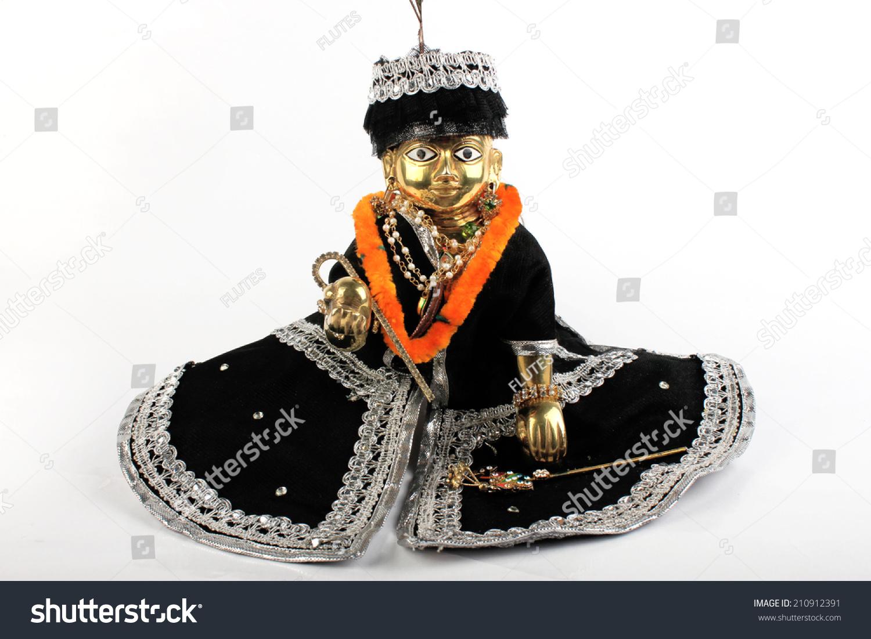 stock photo sculpture of lord baby krishna laddu gopal lalan 210912391