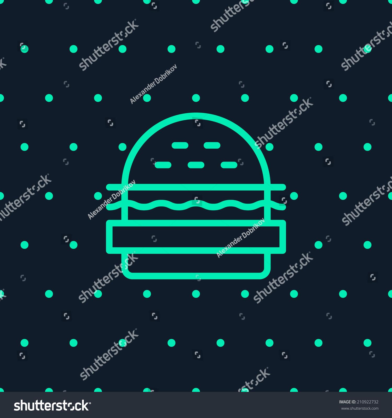 Stock Vector Burger Logo