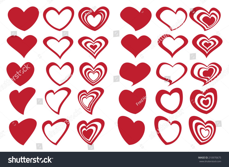 Vector illustration fancy red heart shape stock vector 210970675 vector illustration of fancy red heart shape designs inspired by latte art buycottarizona