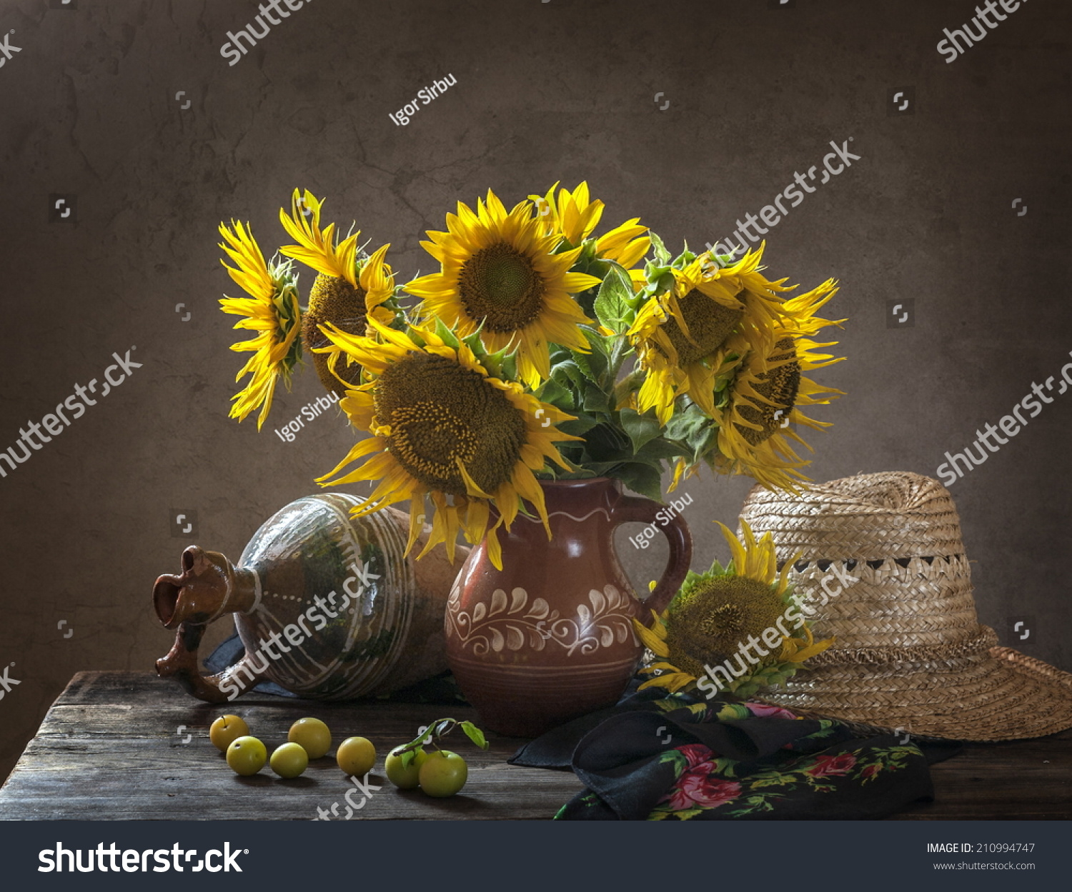 Still Life With Sunflowers On The Table