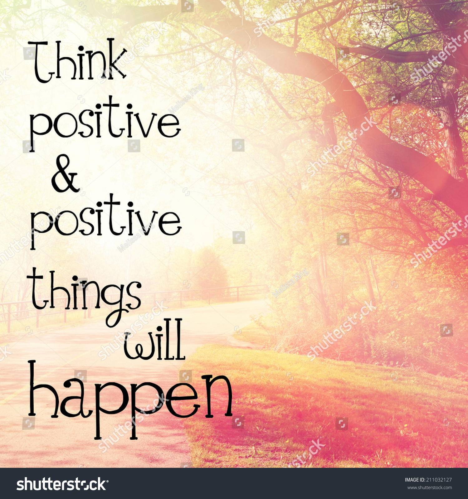 Inspirational Typographic Quote - Think Positive ...