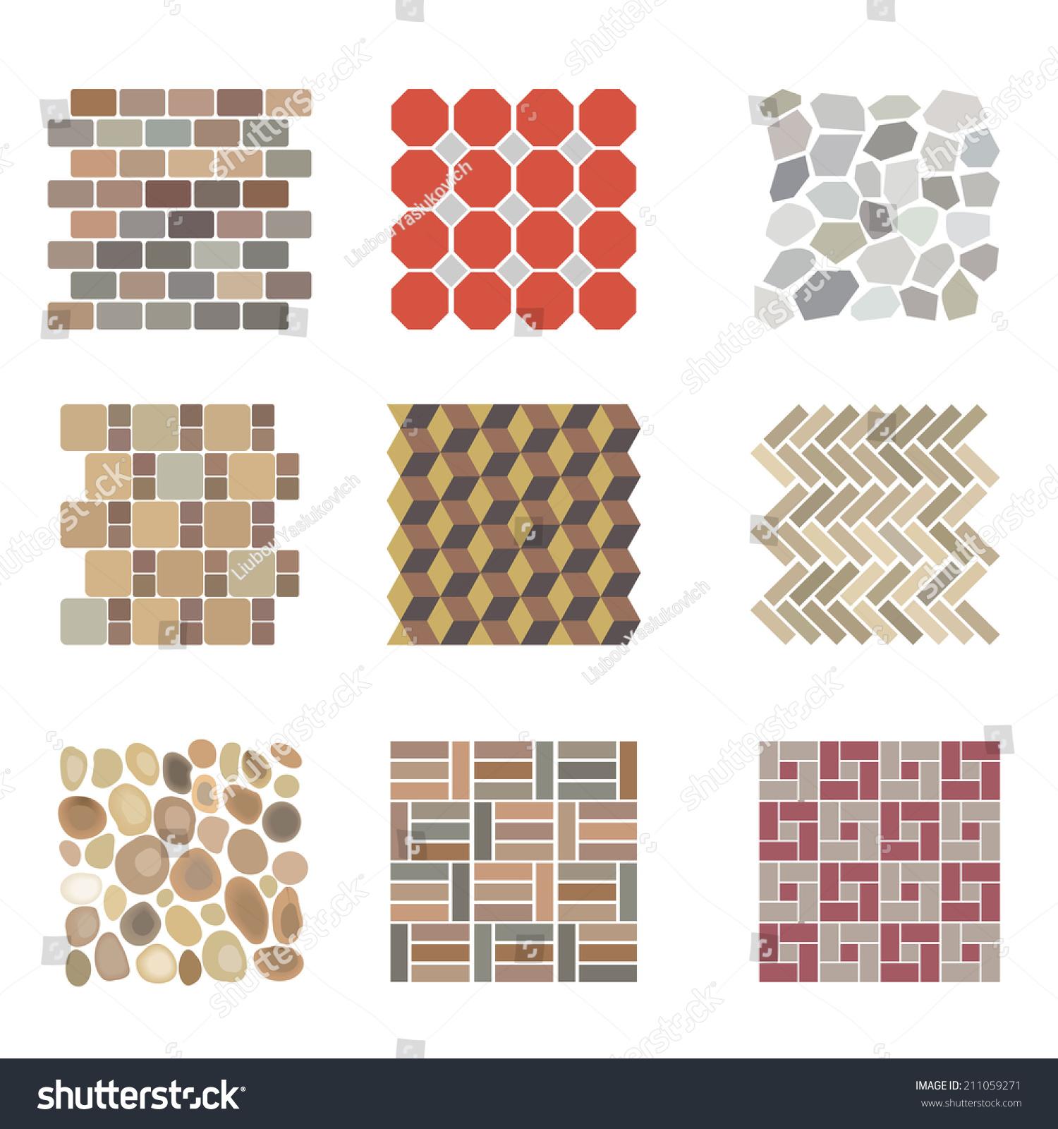 Detailed landscape design elements make your stock vector for Landscape blueprint maker