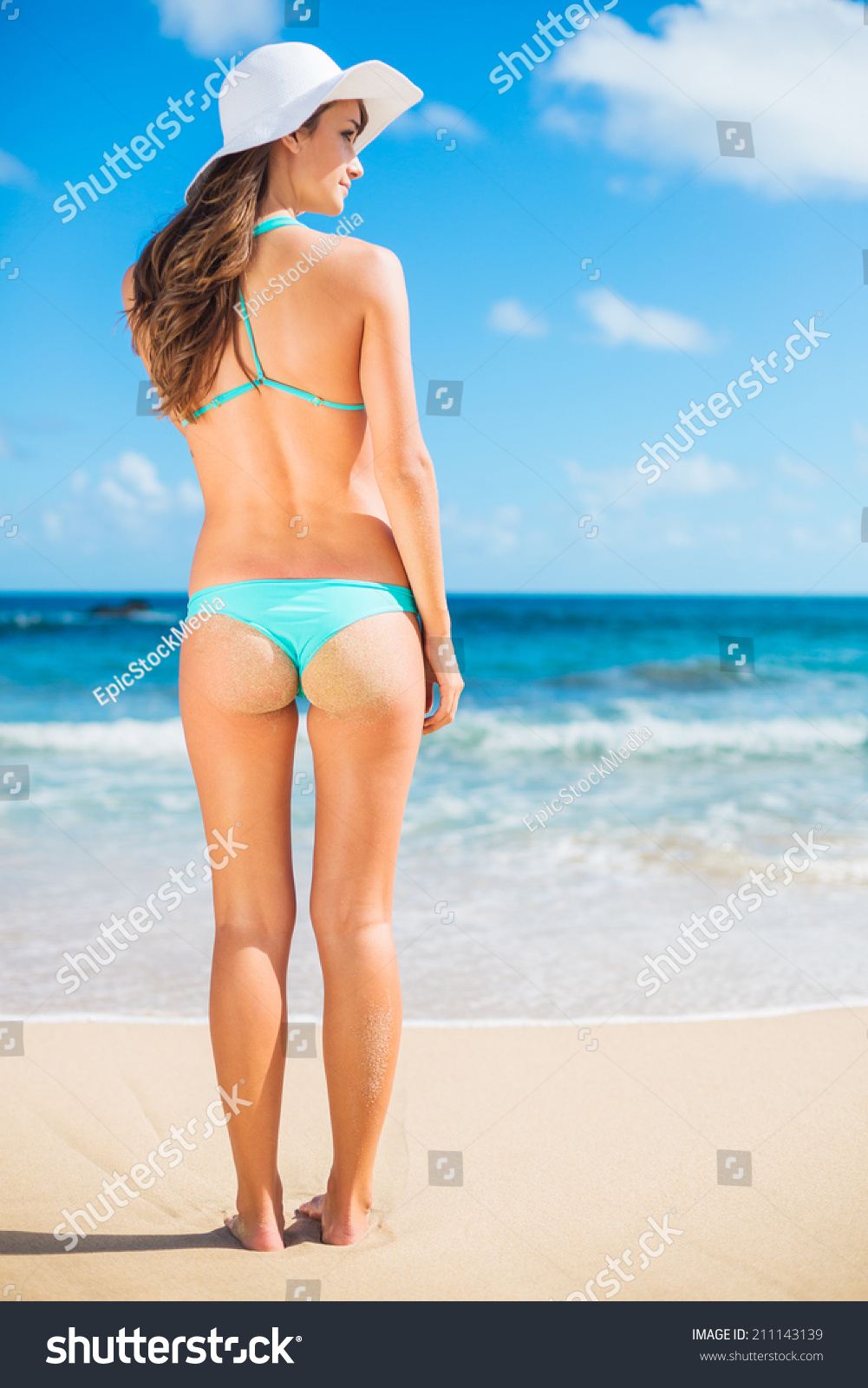 beautiful sexy young woman small bikini stock photo (royalty free