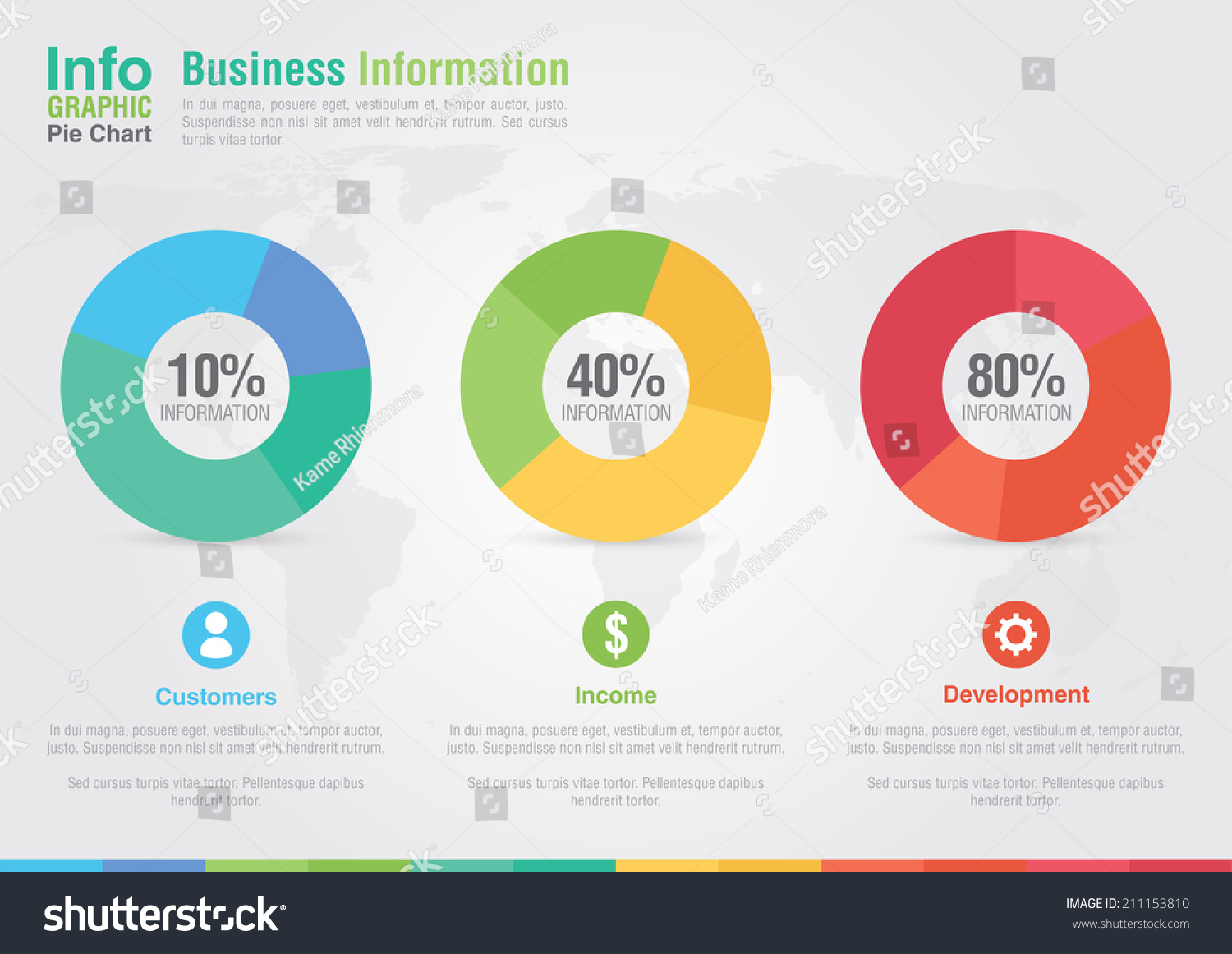 Business Pie Chart Infographic. Business Report Creative Marketing. Business Success. Stock ...