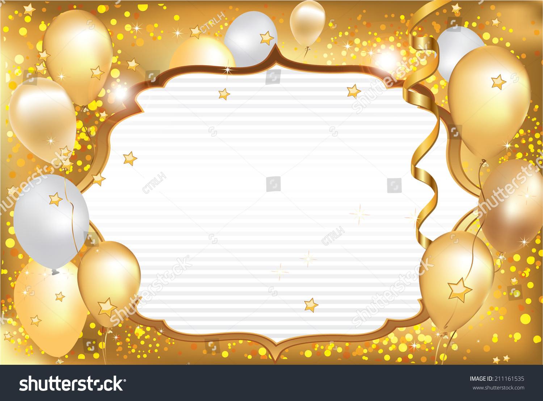 Celebration Background Card Balloons Elegant Celebration