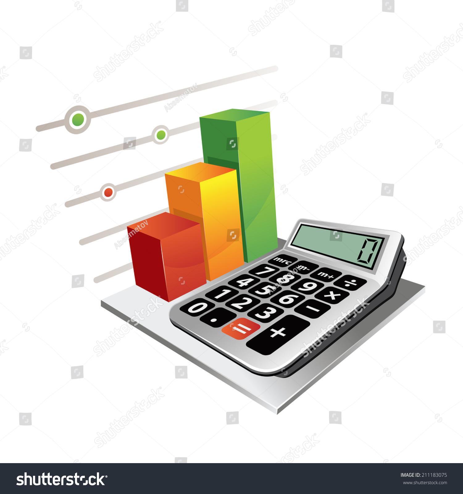 Calculator colorful bar graph stock vector 2018 211183075 calculator colorful bar graph ccuart Gallery