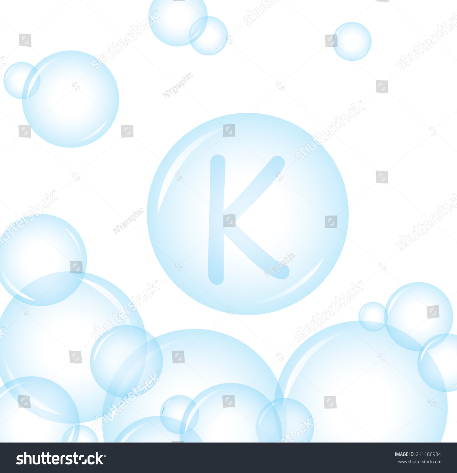 Vector Of Alphabetical From Soap Bubble Letter K