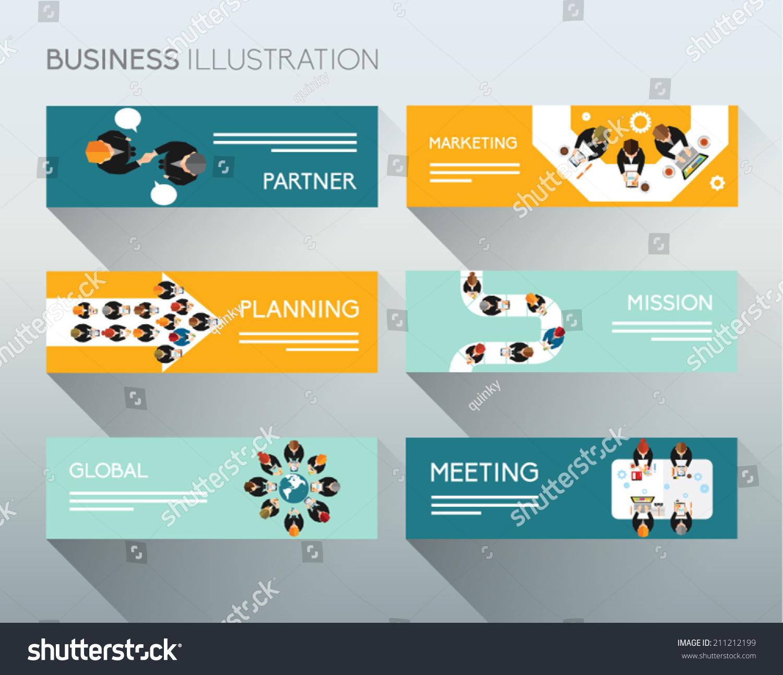 Creative Business Office Banner Conceptual Vector Stock Vector ...