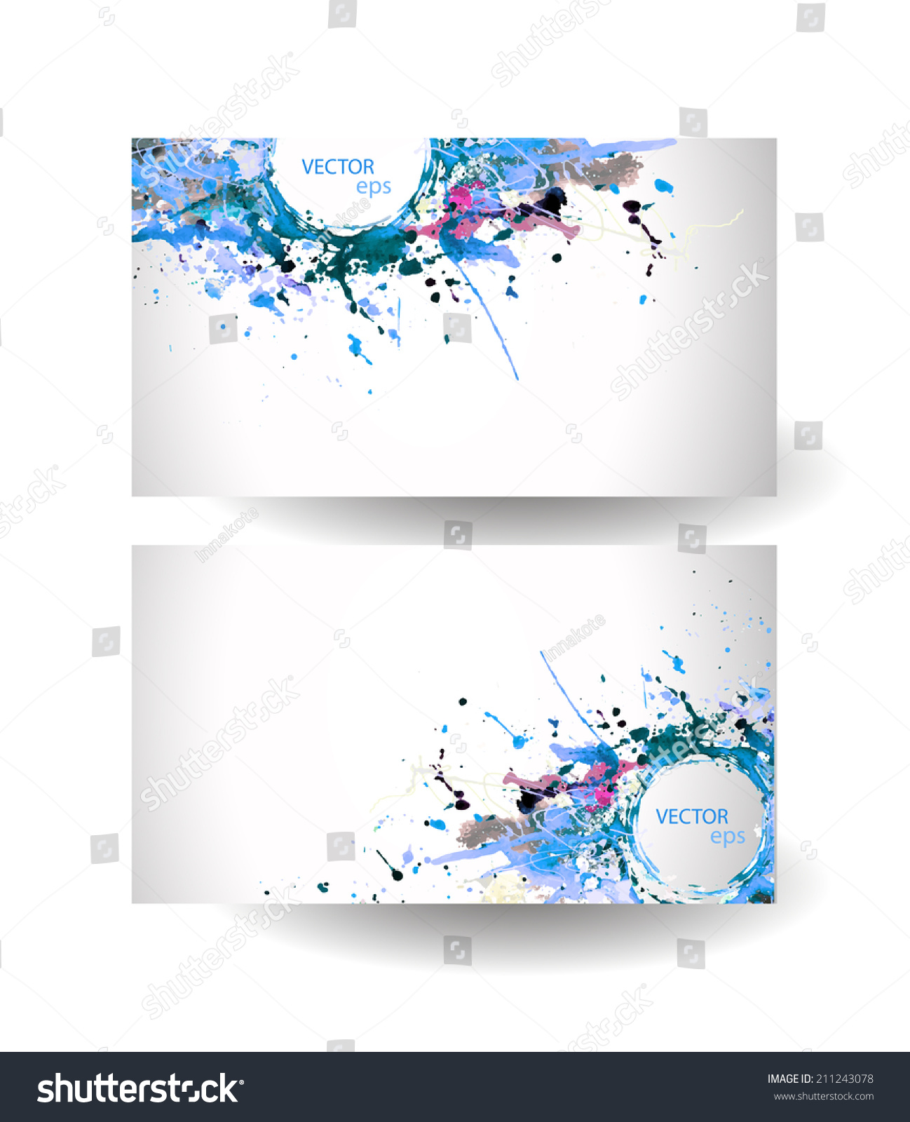 Business cards template abstract spray paint stock vector 2018 business cards template abstract spray paint colorful watercolor colourmoves
