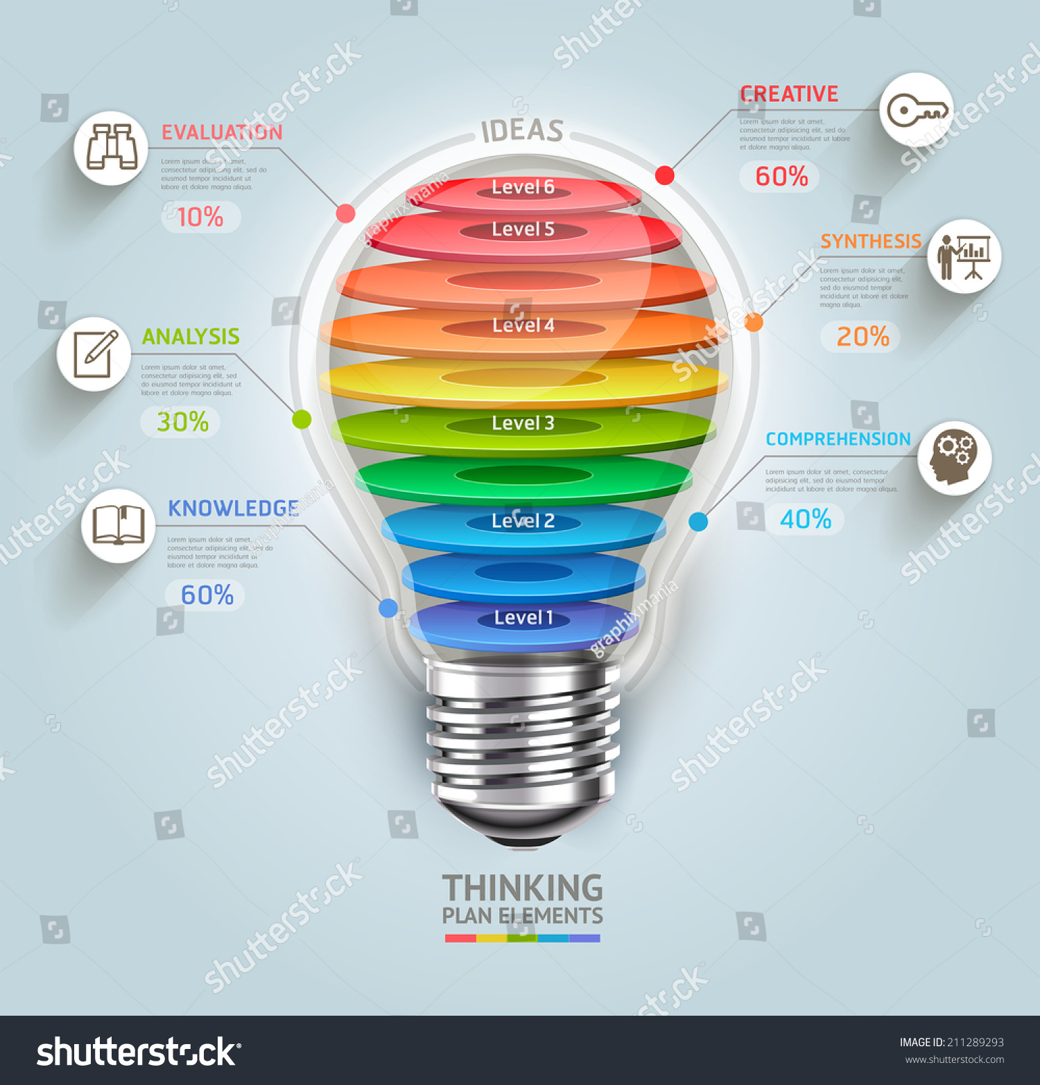 Business Thinking Timeline Lightbulb Icons Can Stock Vector Royalty Diagram Of Incandescent Light Bulb With Be Used For Workflow Layout Banner