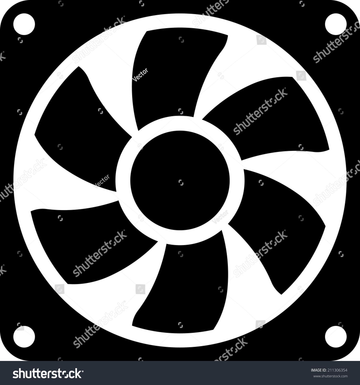 Exhaust Fan Symbol : Exhaust fan air conditioner vector icon stock