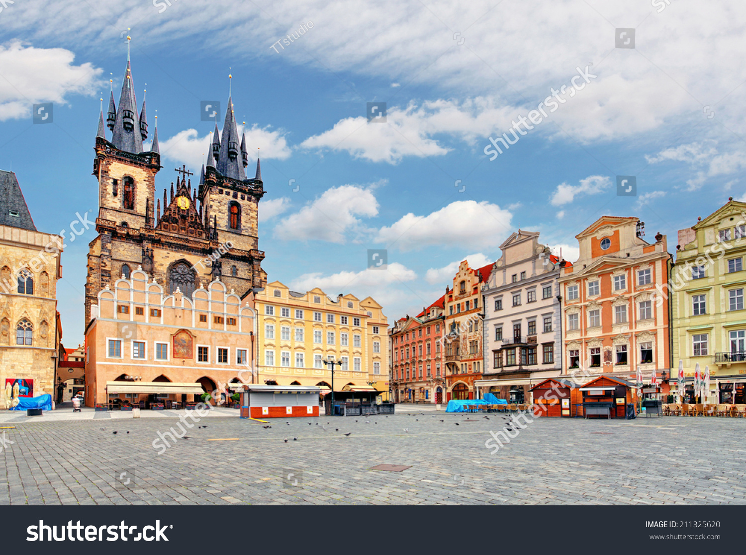 Old town square in prague czech republic stock photo for Prague square
