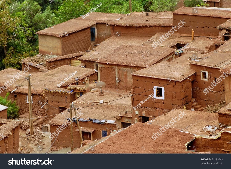 Traditional Berber Clay House Village Atlas Stock Photo