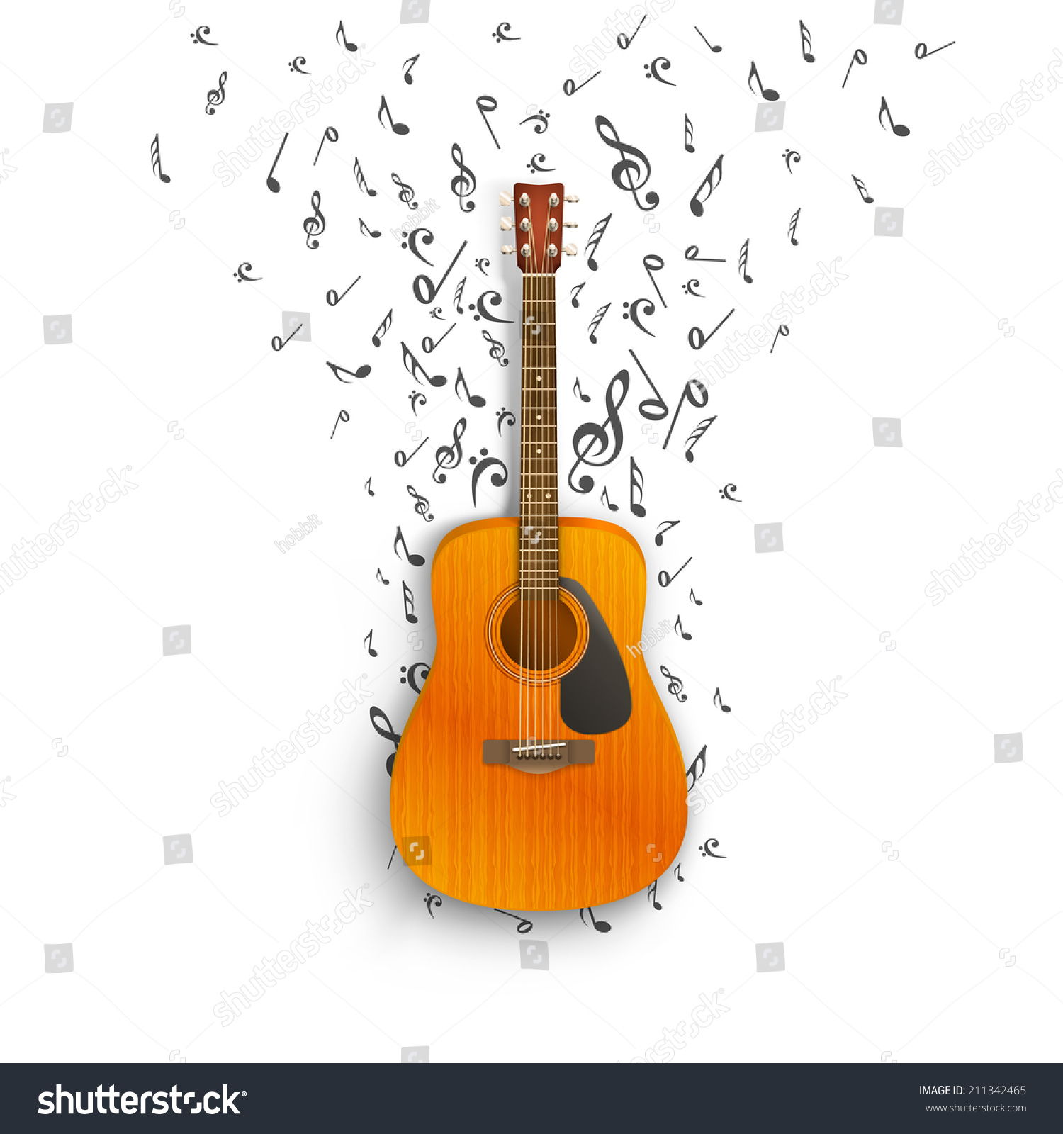 Notes Off Guitar Fly Icon Stock Vector Royalty Free To String A Guitarguitar Technique Electric Acoustic Of The Illustration