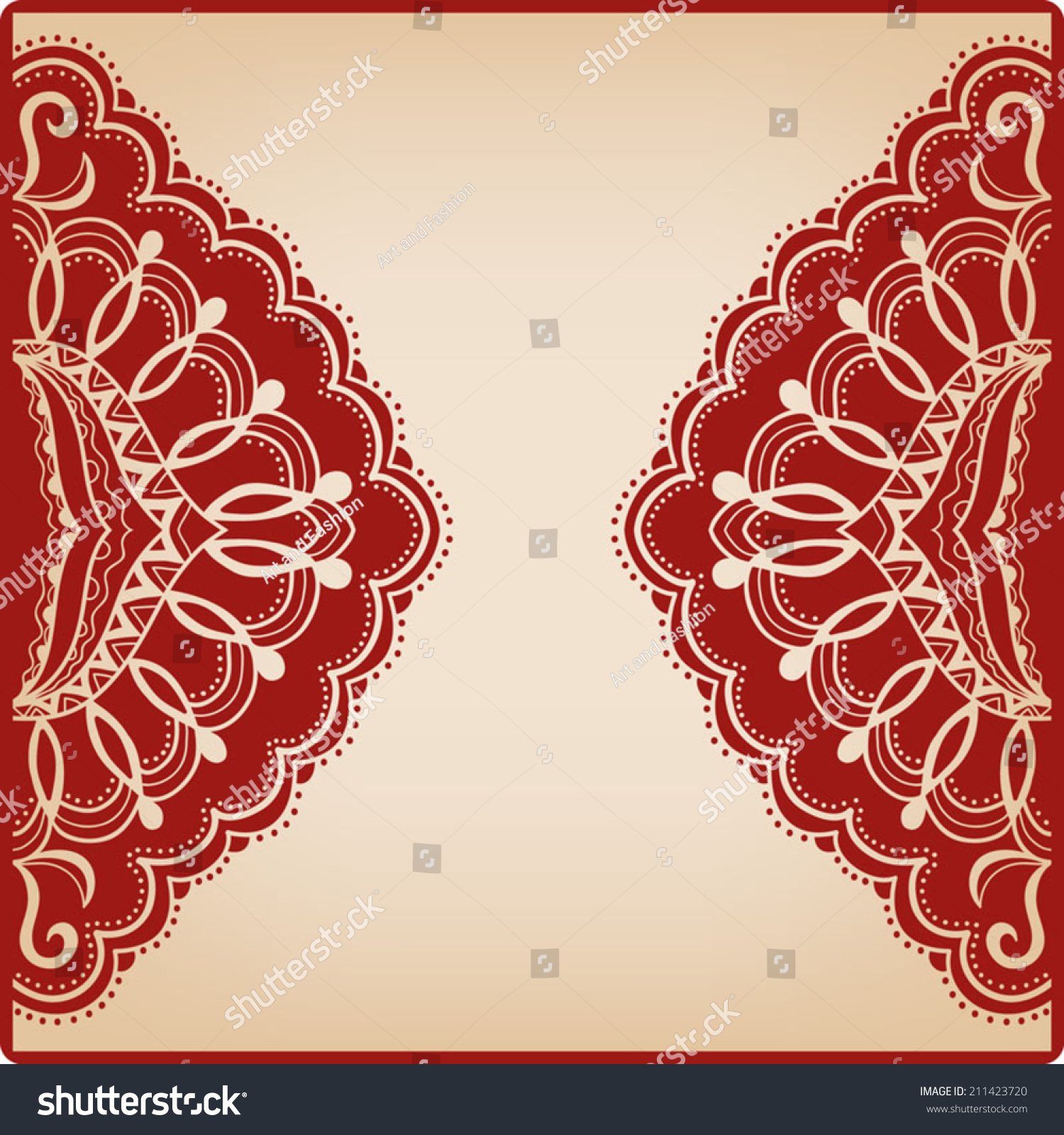 Abstract Background Lace Frame Border Pattern Stock Vector 211423720 ...
