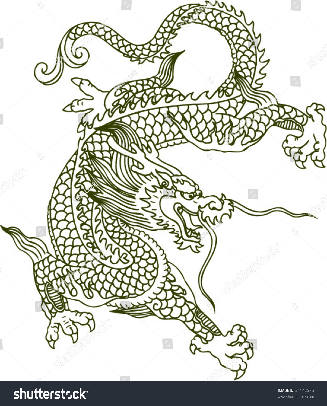 vector of ancient chinese dragon pattern ez canvas