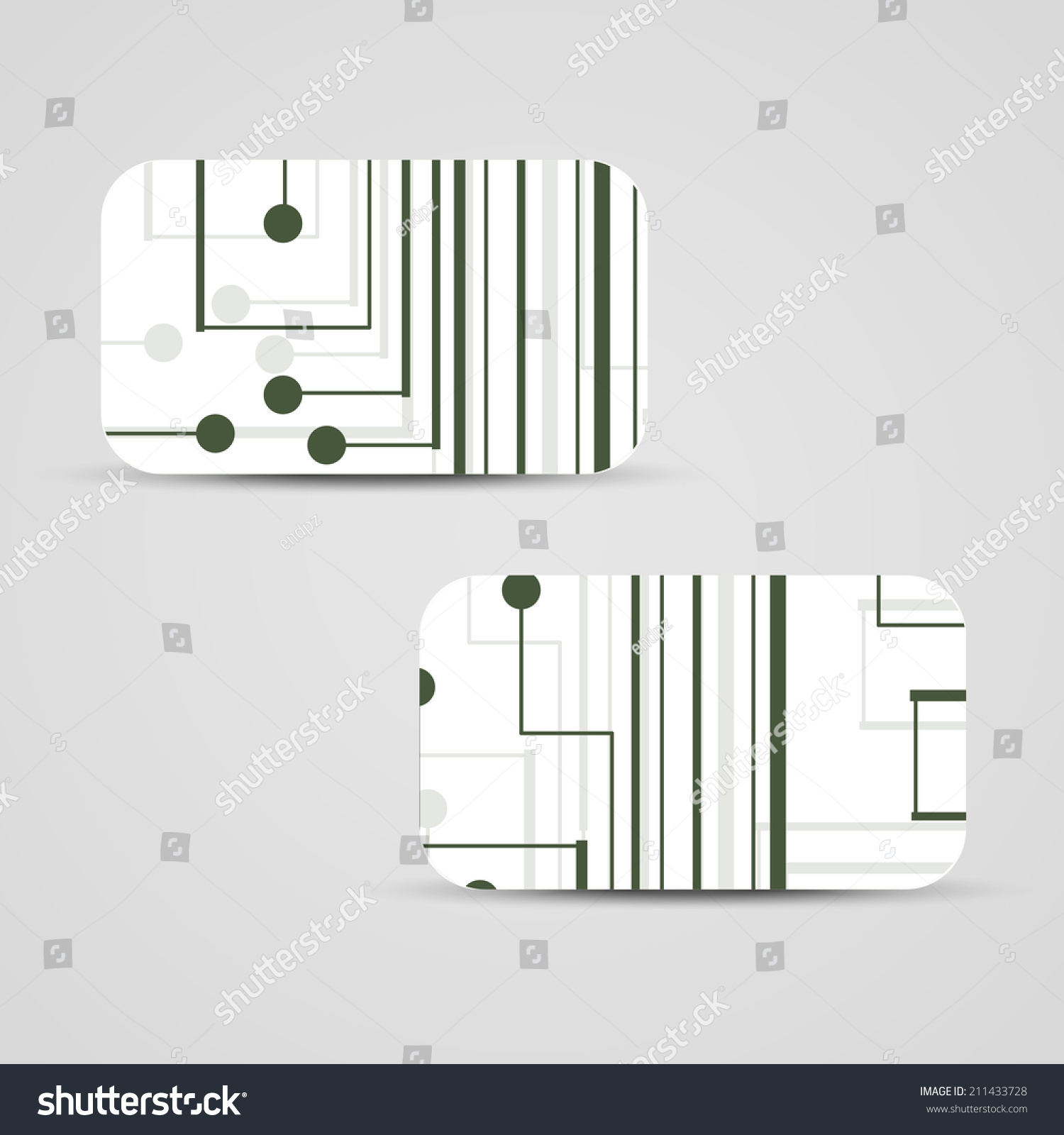 Vector Business Card Set For Your Design Circuit Board Illustration How To Boards Id 211433728