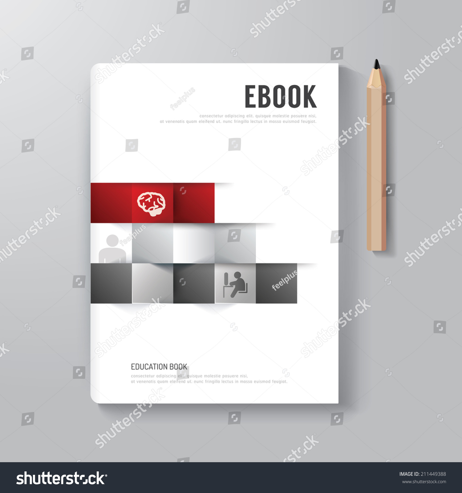 Book Cover Layout Design : Cover book digital design minimal style stock vector