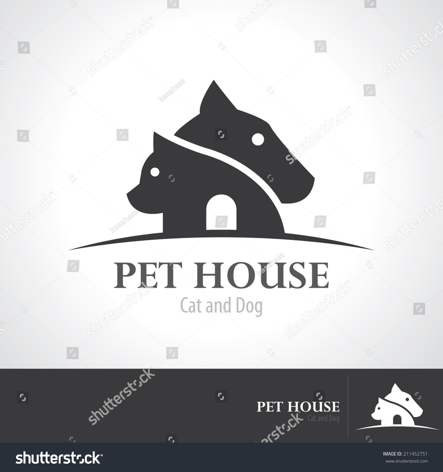 Pet house icon symbol design vector stock vector 211452751 for House music symbol