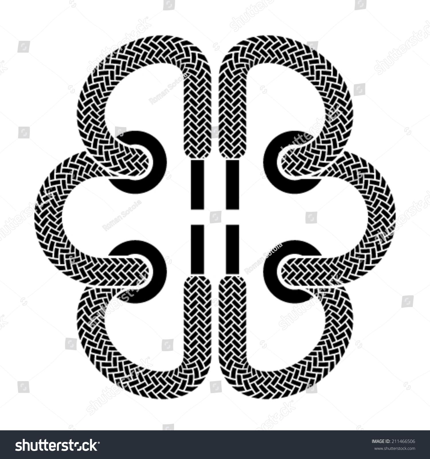 Vector shoe lace brain symbol stock vector 211466506 shutterstock vector shoe lace brain symbol biocorpaavc Images