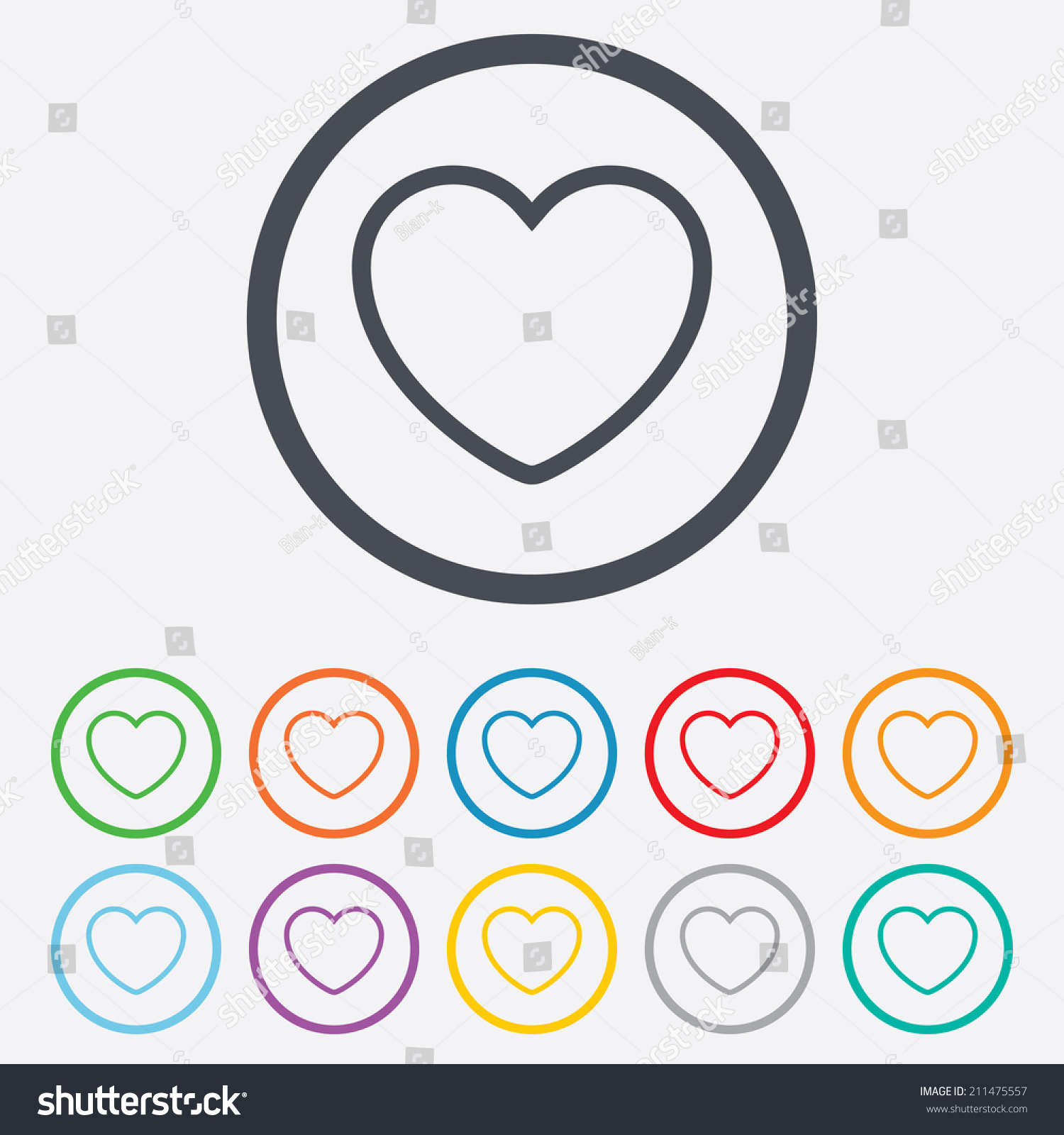 Heart sign icon love symbol round stock vector 211475557 heart sign icon love symbol round stock vector 211475557 shutterstock buycottarizona