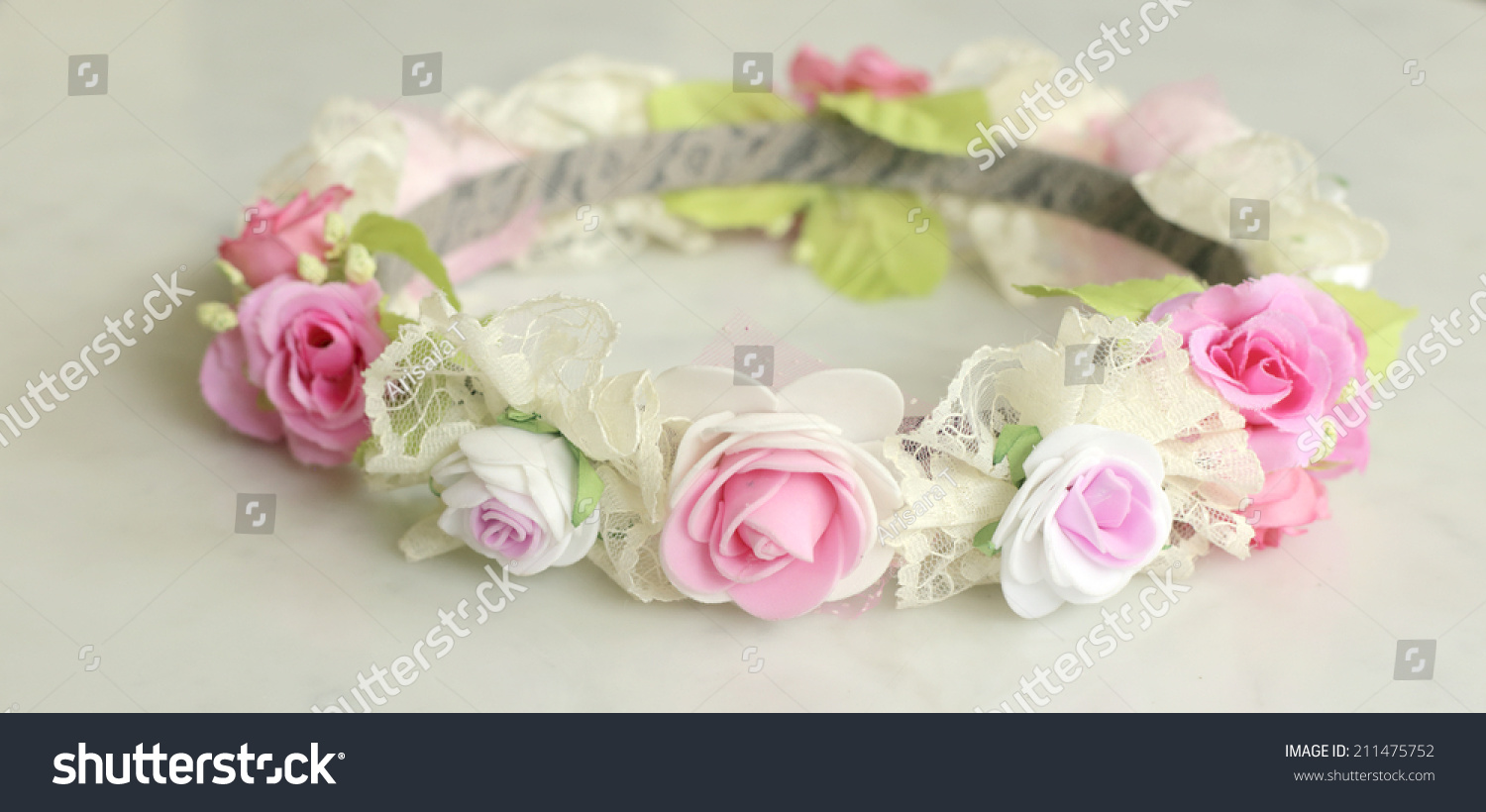Forest coronal colorful fake flower crown stock photo royalty free forest coronal or colorful fake flower crown izmirmasajfo