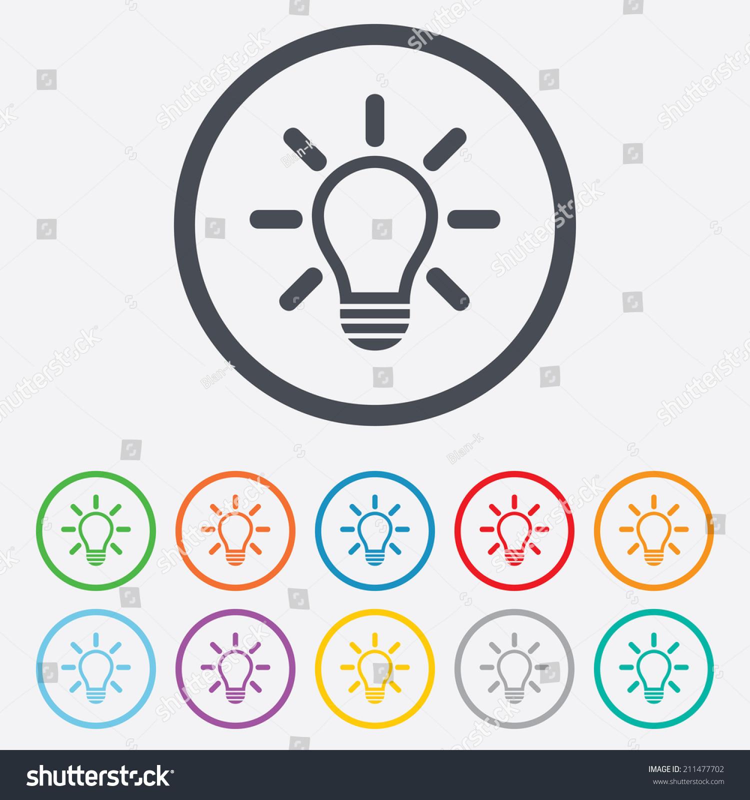 Light Lamp Sign Icon Idea Symbol Stock Vector 211477702 - Shutterstock