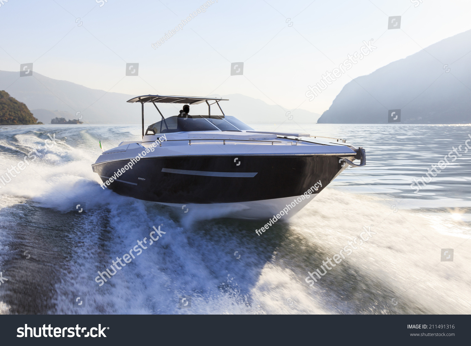 Motor Boat Rio Yachts Best Italian Stock Photo 211491316