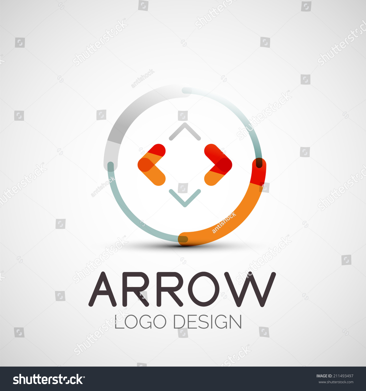 Modern Professional It Company Logo Design For Concept: Vector Arrow Company Logo, Abstract Business Symbol
