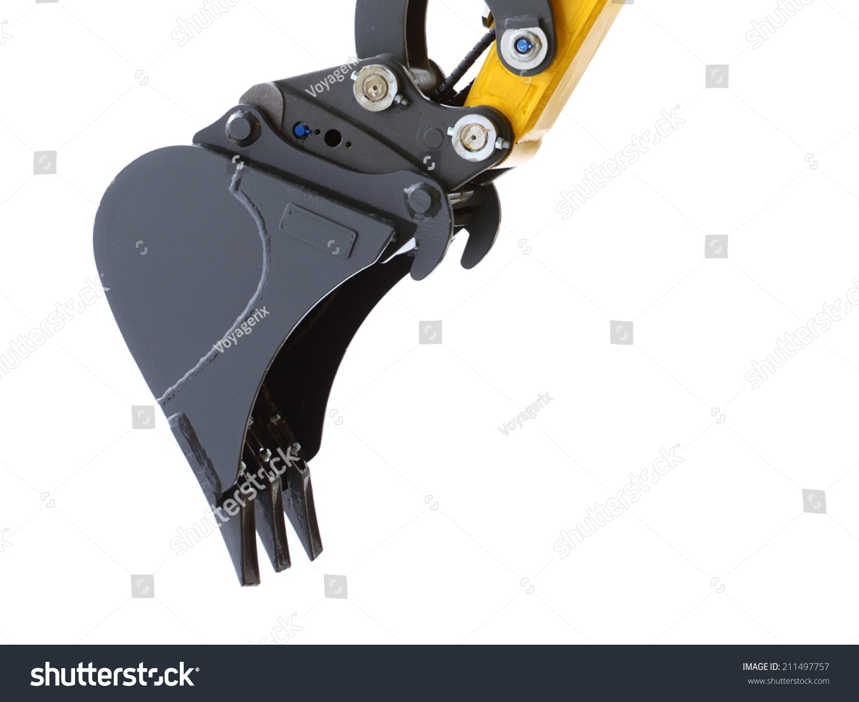 digger excavator bucket bulldozer shovel industrial stock photo