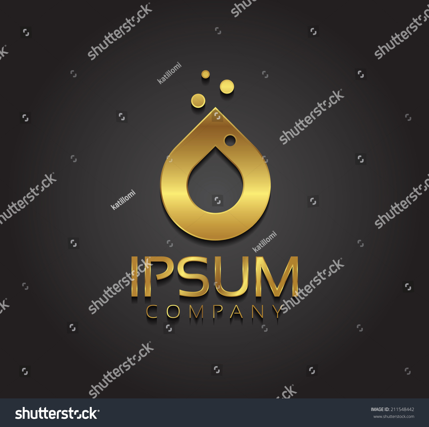 Vector graphic golden water drop symbol stock vector 211548442 vector graphic golden water drop symbol with sample text biocorpaavc Image collections