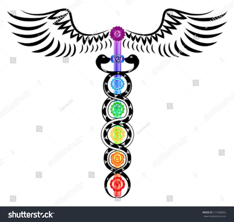 Royalty free caduceus 7 chakras kundalini energy 211608052 caduceus 7 chakras kundalini energy 211608052 buycottarizona
