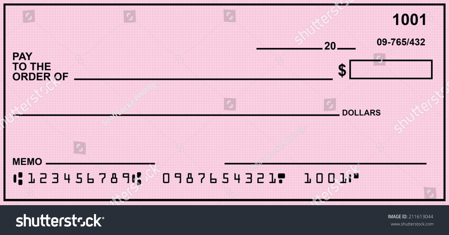 blank check pink background fake numbers stock photo 211613044, Powerpoint templates