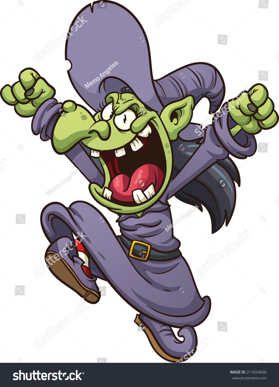 evil cartoon witch jumping vector clip stock vector Halloween Ghost Clip Art halloween zombie clipart