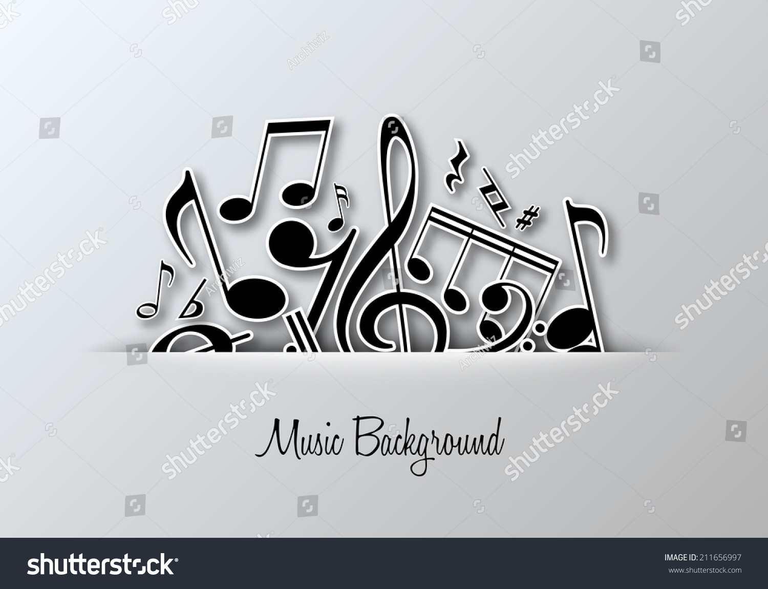 Poster design notes - Vector Music Notes Background For Poster Or Card Design