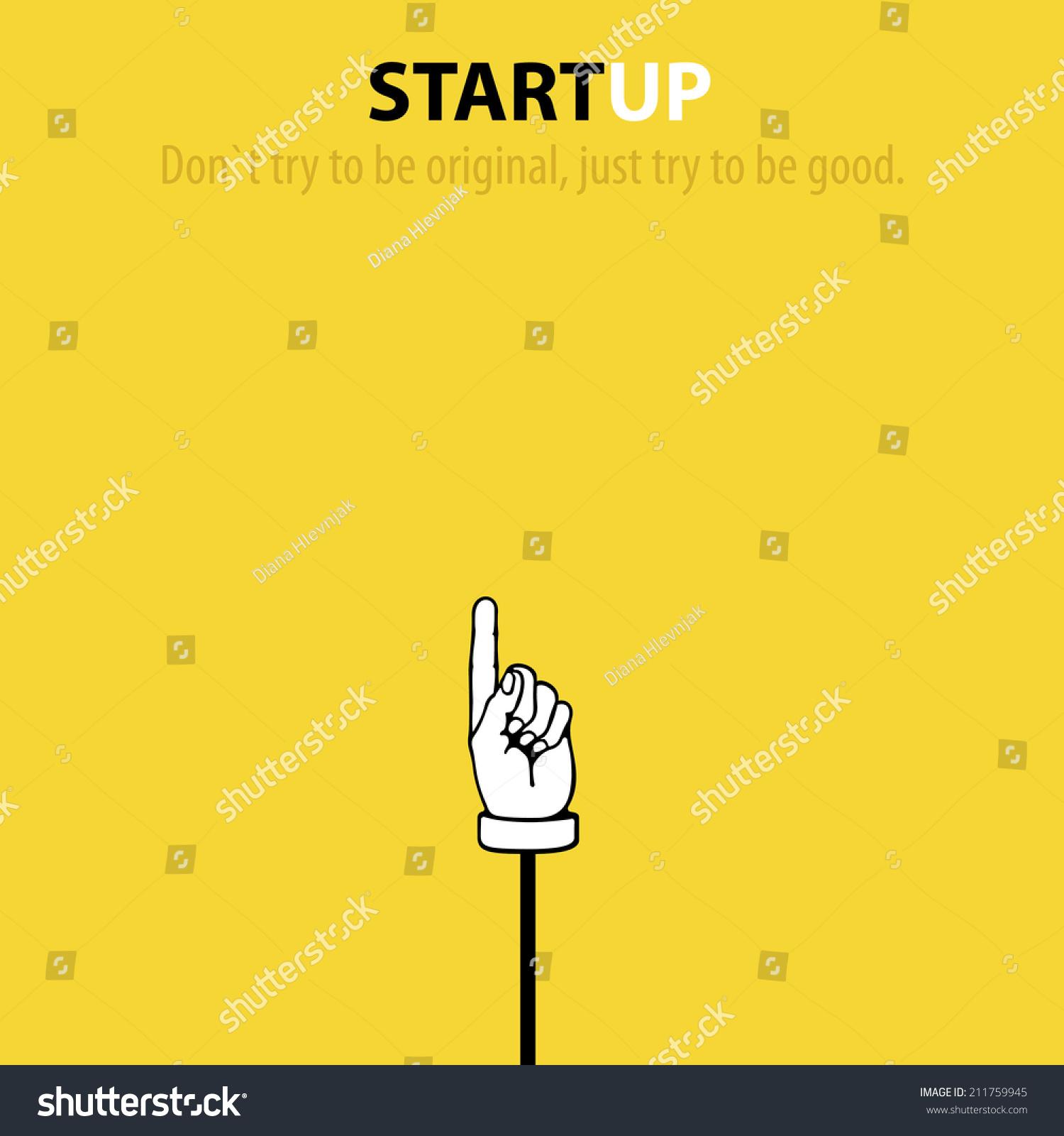 minimalistic startup company wallpaper vector illustration