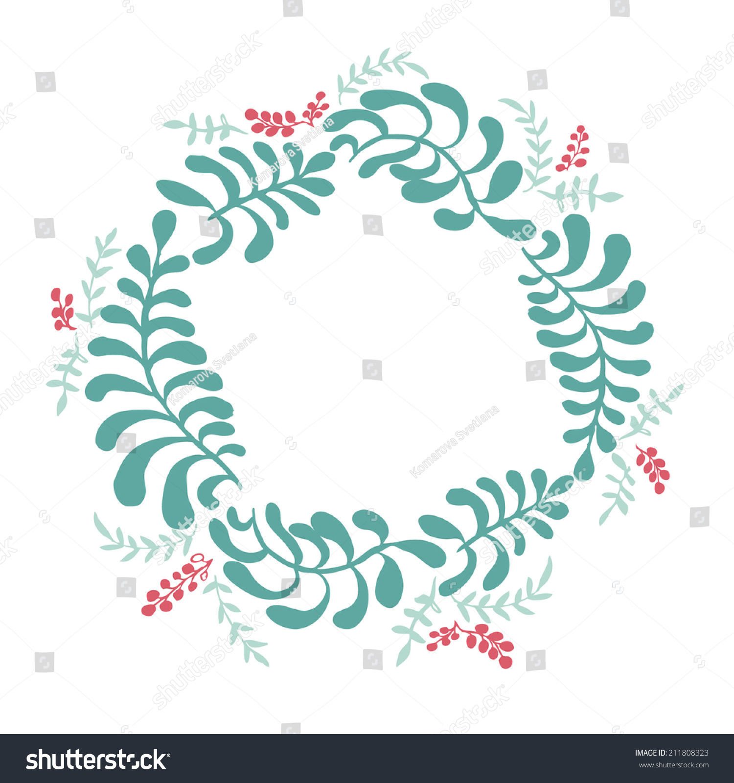 Of Wreaths Vector Floral Frames Cute Collection Wreaths Stock Vector