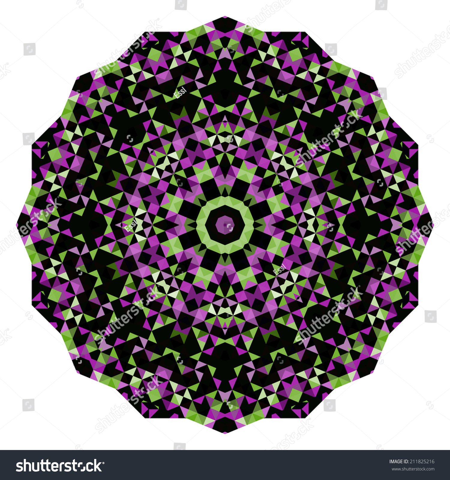 Abstract Flower Creative Style Wheel Colorful Stock Illustration