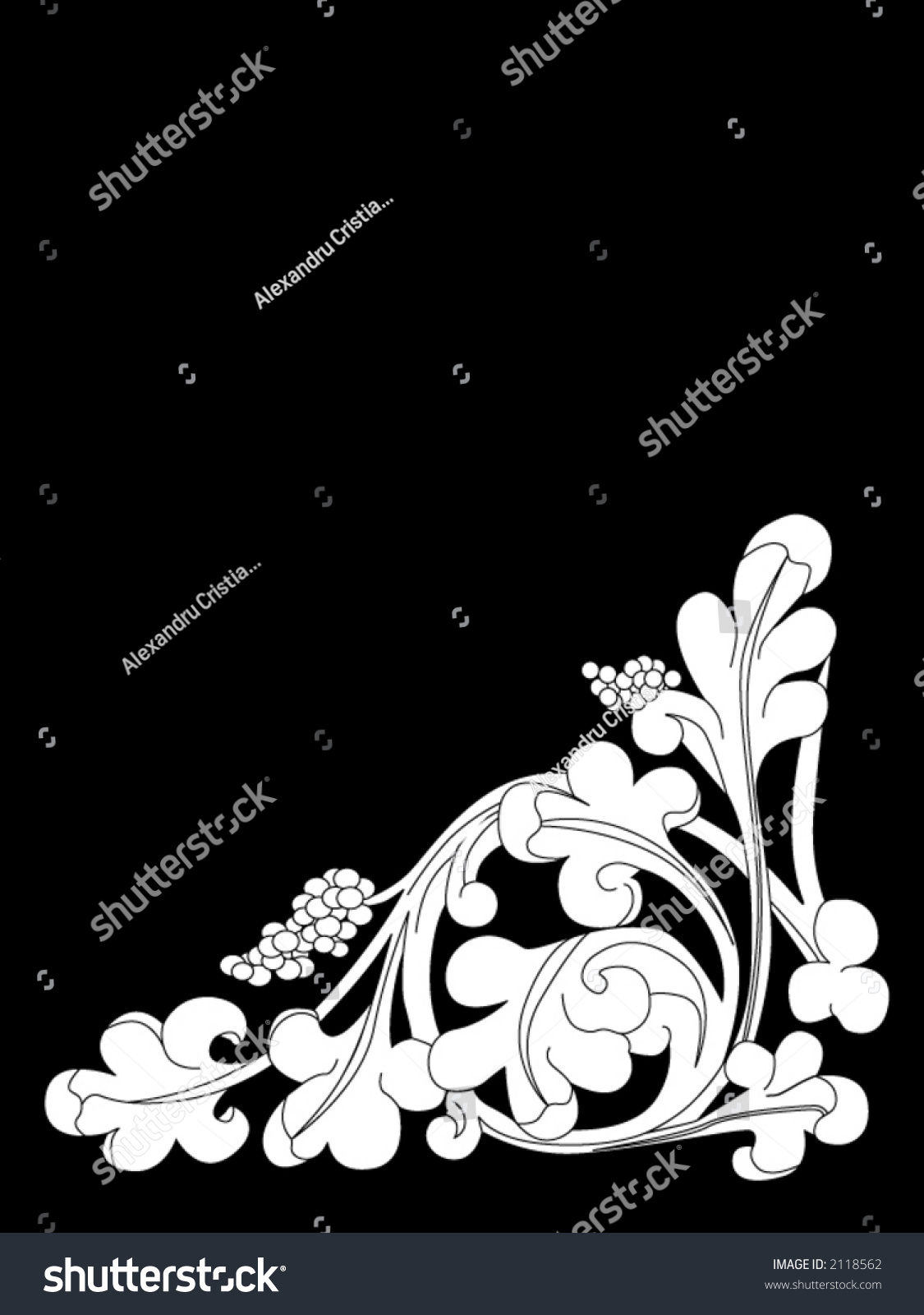 Vector gothic carving design element 2118562 shutterstock for Gothic design elements