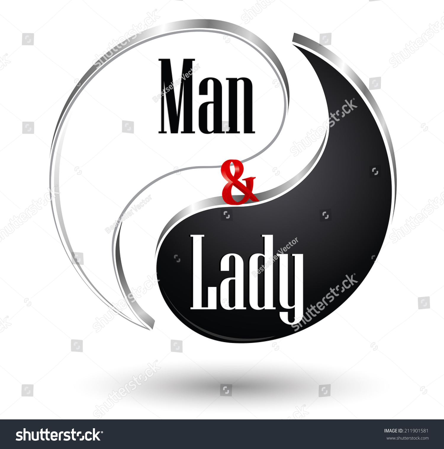 Yin yang male female symbol vector stock vector 211901581 yin yang male and female symbol vector illustration biocorpaavc