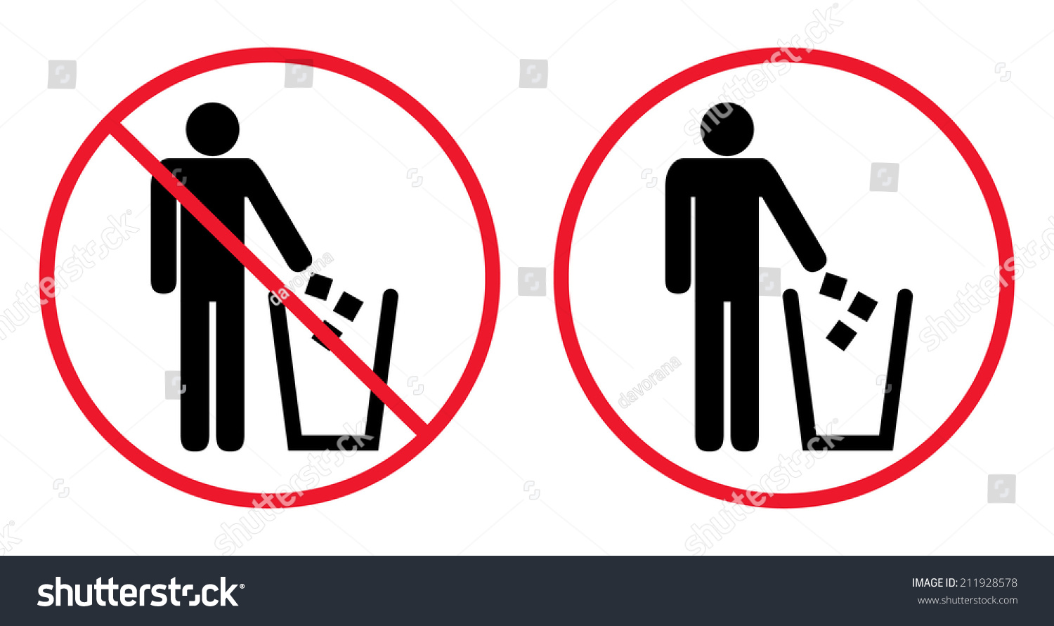Royalty Free Trash Bin With Human Figure Symbol 211928578 Stock
