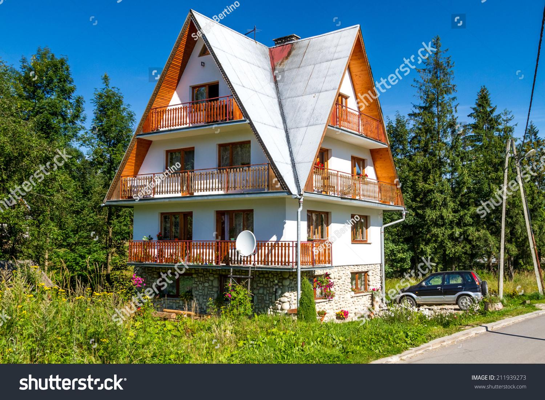A Typical House From Zakopane, Poland. Stock Photo ...
