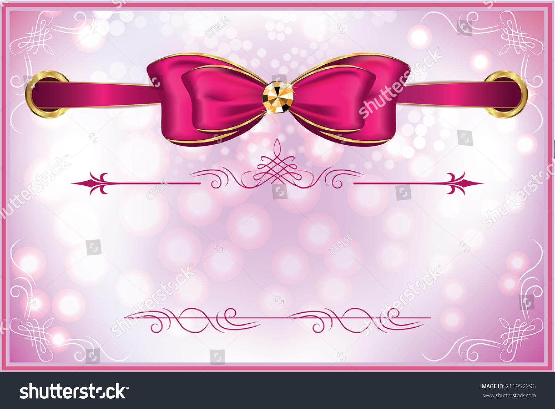 Elegant Birthday Backgrounds : Elegant printable pink white celebrating background with ribbon, for ...